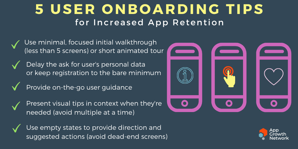 5 User Onboarding tips for increased app retention